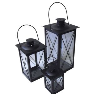 Set Of Three Cavendish Candle Lanterns In Black - candles & candlesticks
