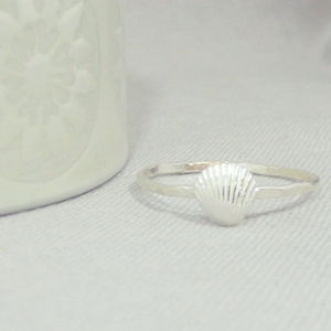 Silver Shell Ring - women's jewellery