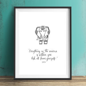 Inspirational Yoga Poster With Rumi Quote