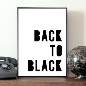 'Back To Black' Poster