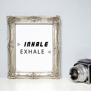 'Inhale Exhale' Print - prints & art