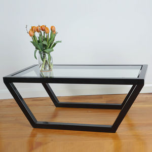 Glass And Steel Coffee Table - coffee tables