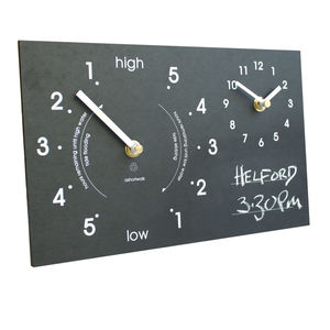 Eco Recycled Time And Tide Clock Chalk On - clocks
