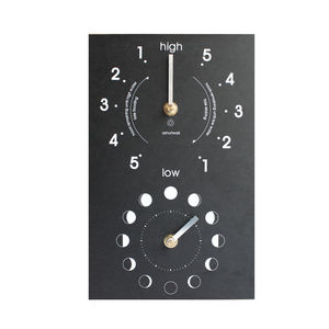 Eco Recycled Moon And Tide Clock - clocks