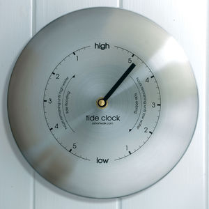 Stainless Steel Tide Clock Silver - clocks