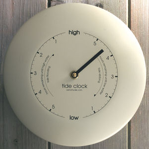 Stainless Steel Tide Clock Cream