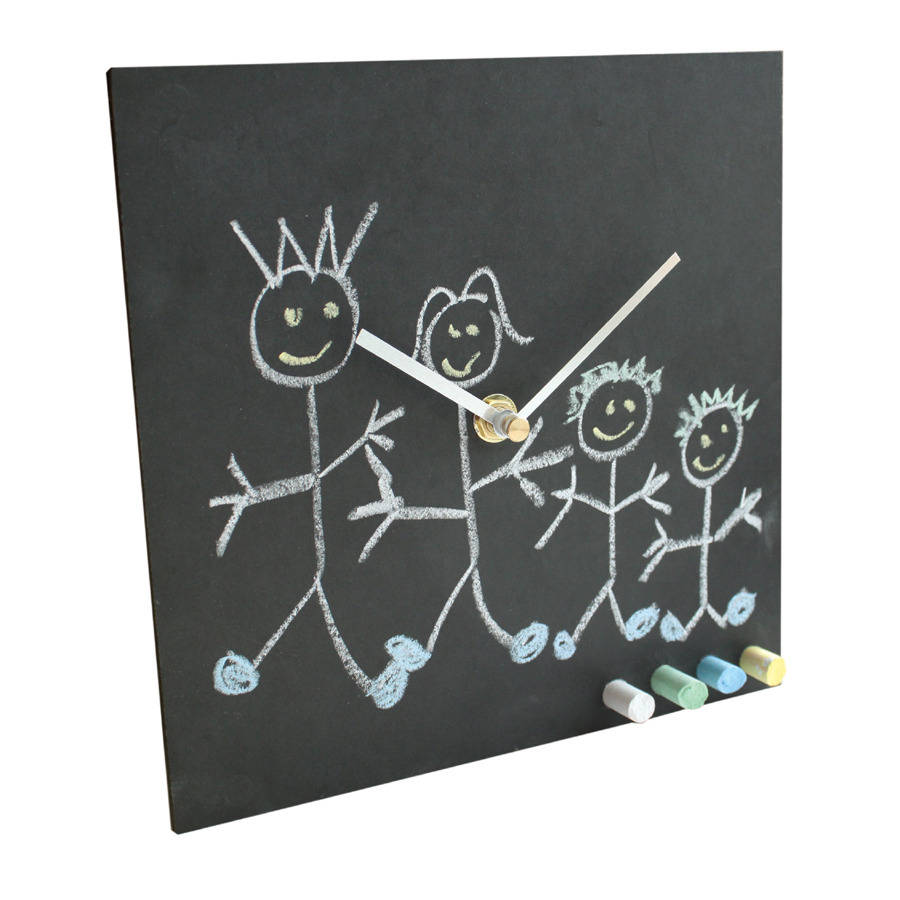 Eco Recycled Childrens Clock With Chalk By Ashortwalk