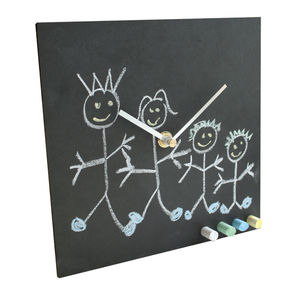 Eco Recycled Childrens Clock With Chalk - clocks