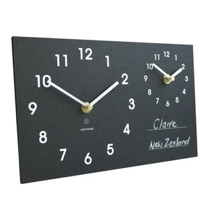 Eco Time Zone Clock - office & study