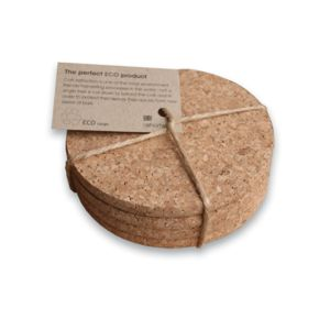 Eco Cork Coasters - dining room