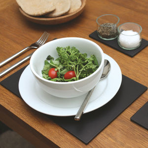 Eco Recycled Slate Alternative Placemats Set Of Four - tableware