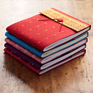 Fair Trade Sari Photo Albums - stationery