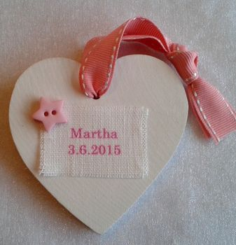 Personalised New Baby Heart