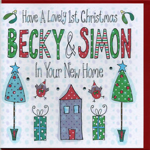 Personalised 1st Christmas In Your New Home Card - new home cards