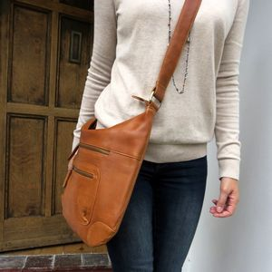 Tan Cross Body Messenger Bag - cross-body bags