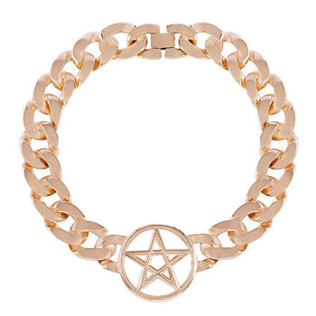 Pentagram Heavy Chain Choker Necklace