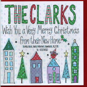 New Home Address Christmas Cards Pack - cards & wrap