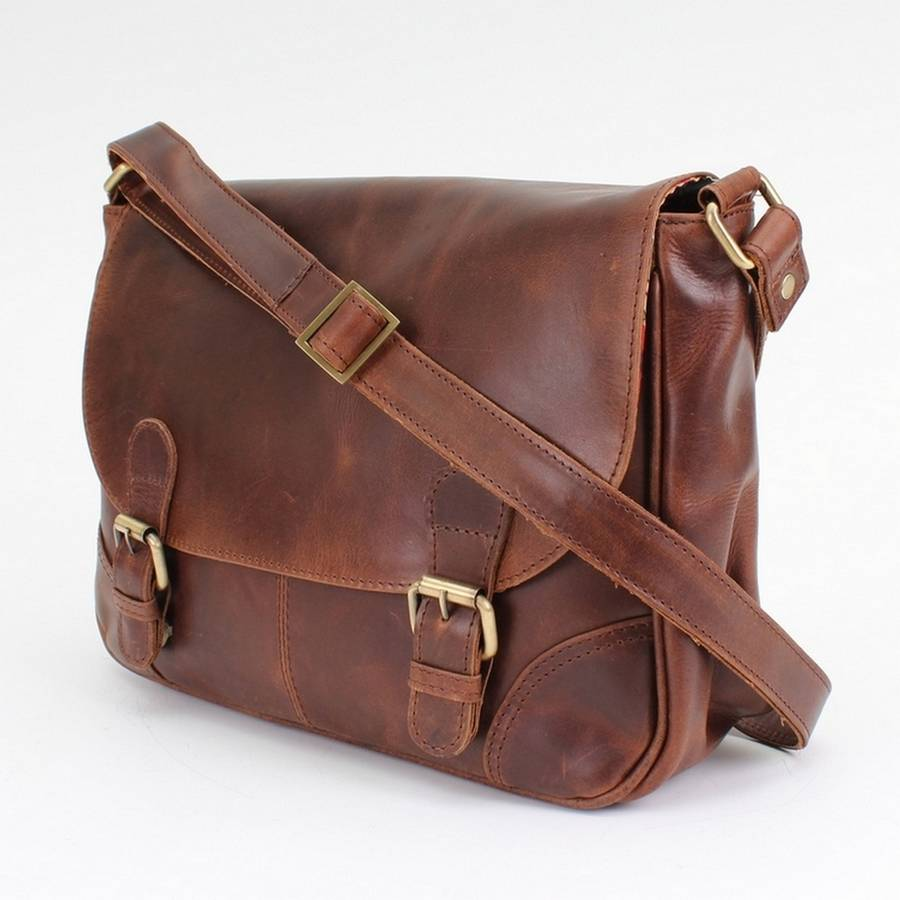 classic leather cross body satchel bag by the leather store ...
