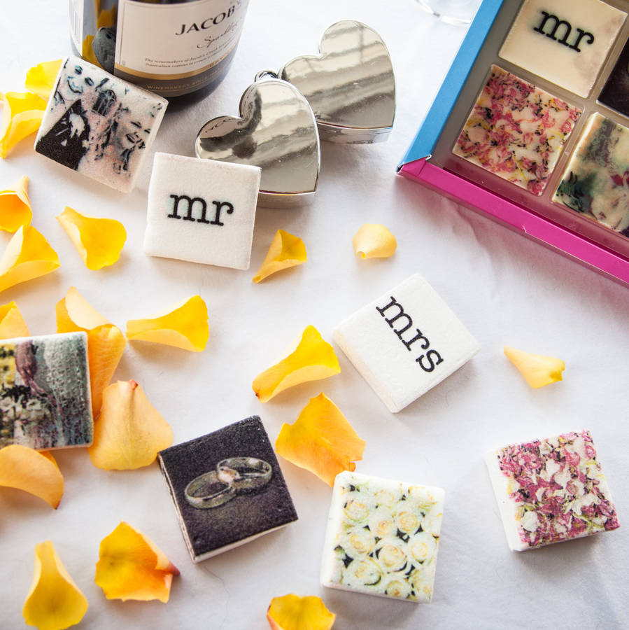 Unique Ideas For Wedding Favours: Personalised Photo Wedding Favour Sweets By Foodigital
