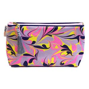 Amalfi Pink Marbled Wash Bag - make-up bags