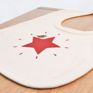Organic Red Star Bib - bibs