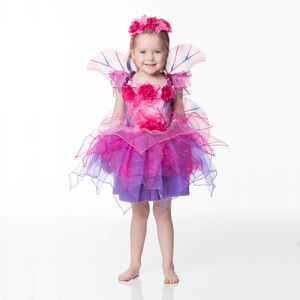 Children's Fuchsia Fairy Dress Up Costume
