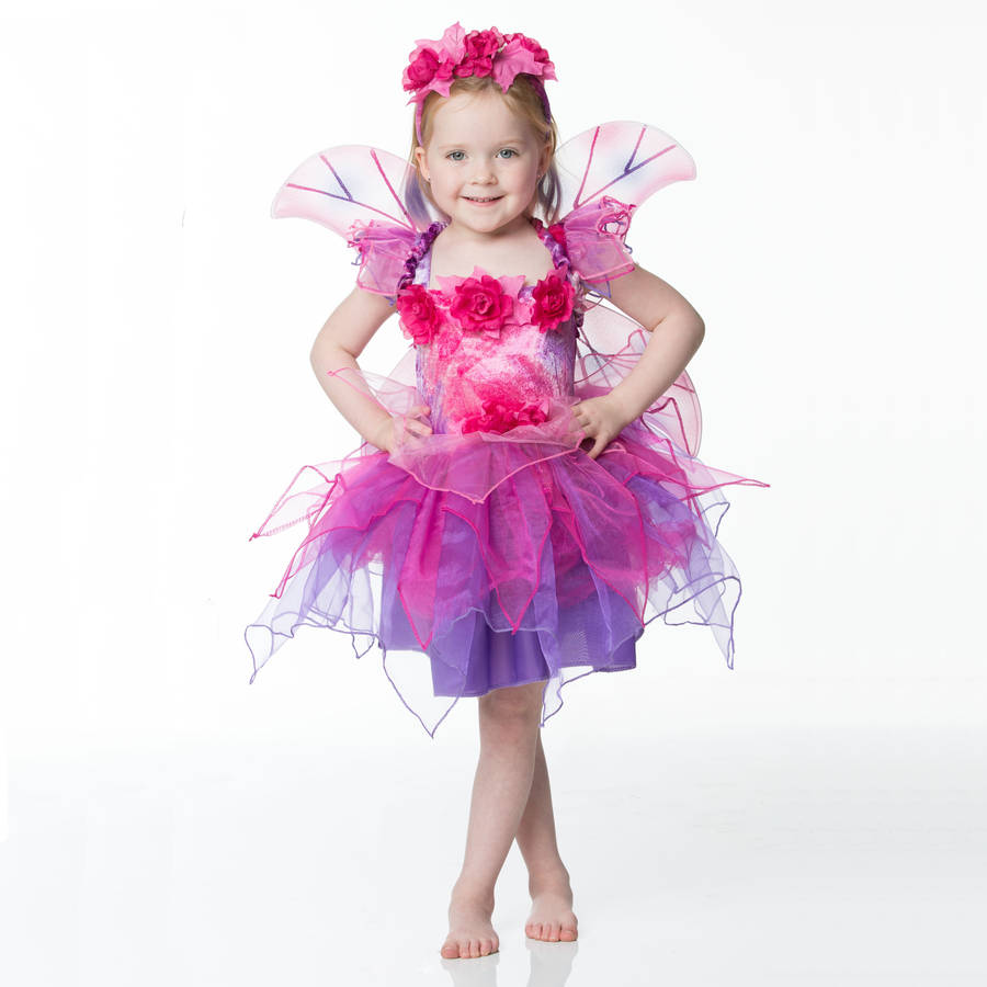 Dress Up: Children's Fuchsia Fairy Dress Up Costume By Time To Dress