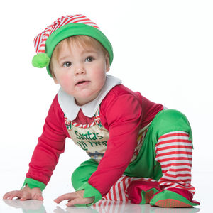 Baby's Santa's Elf Dress Up Costume