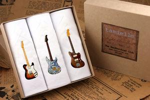 Box Of Three Men's Guitar Hankies
