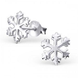 Frozen Snowflake Earrings In Sterling Silver - christmas clothing & accessories