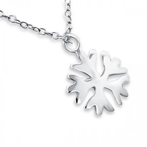 Frozen Snowflake Necklace In Sterling Silver - christmas clothing & accessories