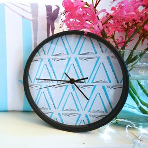 Entwined Patterned Wall Clock
