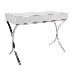 Glass Dressing Table In Ivory - dressing tables