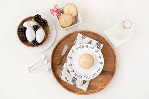 'Santa Yule Love This' Hand Illustrated Christmas Plate - christmas parties & entertaining