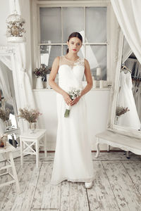 Ruche Bodice Ivory Wedding Dress - dresses