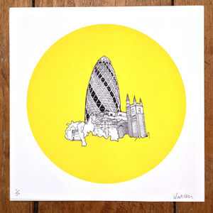 The Gherkin London Print