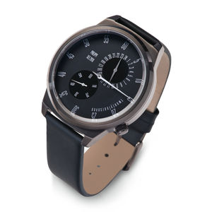 Graphite Finish Gents Innovative Watch - women's jewellery