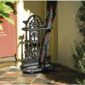 Decorative Cast Iron Umbrella Stand In Black - storage & organising