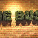 Artificial Boxwood Letter