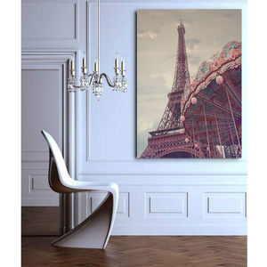 Eiffel Tower Print On Gallery Wrapped Canvas