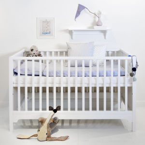 Scandinavian White Wood Cotbed - children's room