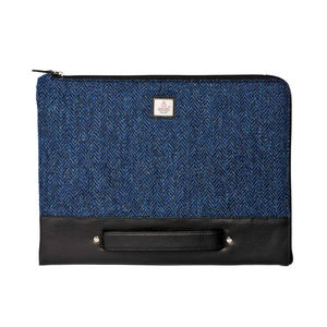 Harris Tweed Folio Sleeve Cloudberry - laptop bags & cases