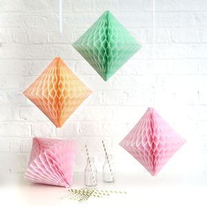 Tissue Paper Diamond Party Decoration