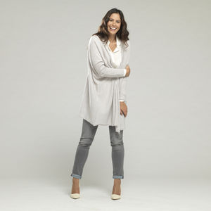 Long Merino Wool Drape Cardigan - jumpers & cardigans