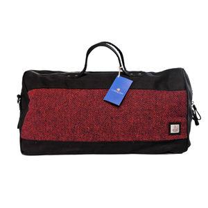 Harris Tweed Holdall Cloudberry - holdalls & weekend bags