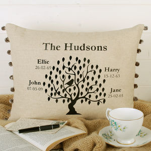 Family Tree Bird Cushion