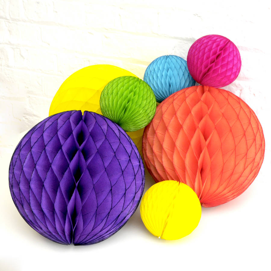 Rainbow Tissue Paper Ball Collection