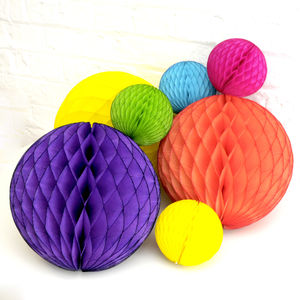 Rainbow Tissue Paper Ball Collection - summer parties