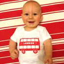 London Bus Screen Printed Babygrow