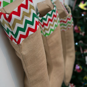 Handmade Large Colourful Stockings